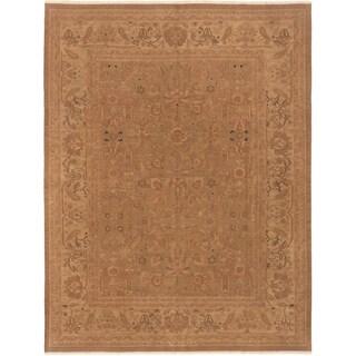 eCarpetGallery  Flat-weave Dynasty Brown Wool Sumak - 7'9 x 9'11