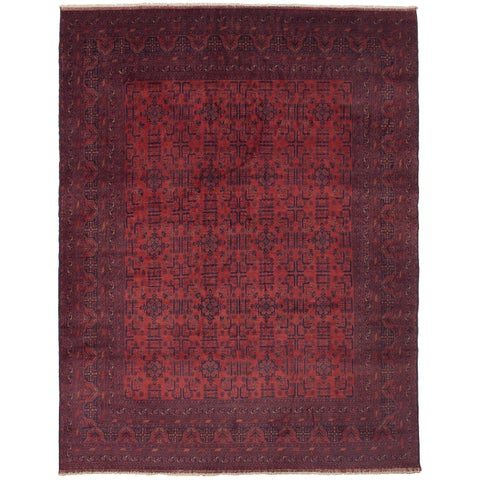 eCarpetGallery Hand-knotted Finest Khal Mohammadi Red Wool Rug - 9'6 x 12'5