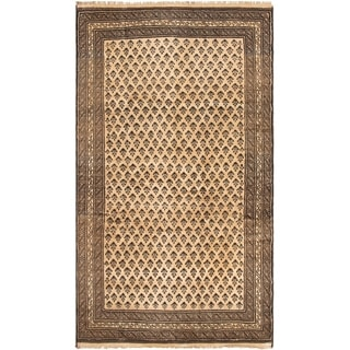 eCarpetGallery  Hand-knotted Teimani Tan Wool Rug - 5'6 x 9'3