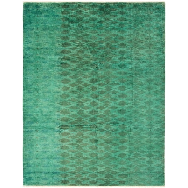 Shop ECarpetGallery Hand-knotted Vibrance Teal Wool Rug