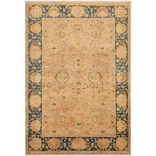 eCarpetGallery  Hand-knotted Peshawar Oushak Beige Wool Rug - 5'10 x 8'7
