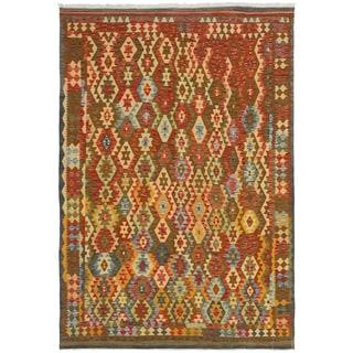 eCarpetGallery  Flat-weave Hereke FW Red Wool Kilim - 6'6 x 9'10