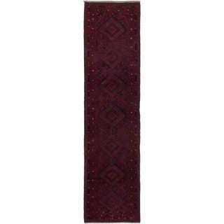eCarpetGallery  Hand-knotted Tajik Caucasian Red Wool Rug - 2'0 x 8'6