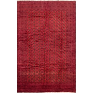eCarpetGallery  Hand-knotted Teimani Red Wool Rug - 8'0 x 12'7