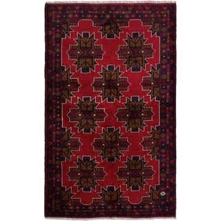 eCarpetGallery  Hand-knotted Teimani Red Wool Rug - 3'8 x 6'4