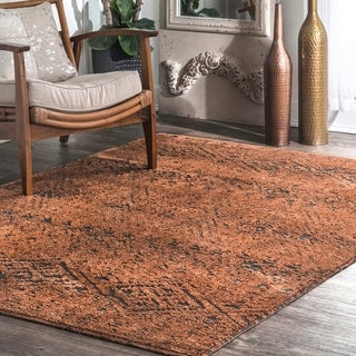 The Curated Nomad SoMa Transitional Faded Mayan Geo Print Area Rug