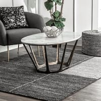 Strick & Bolton Pia Abstract Block Area Rug