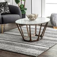 Strick & Bolton Oswald Abstract Striped Area Rug