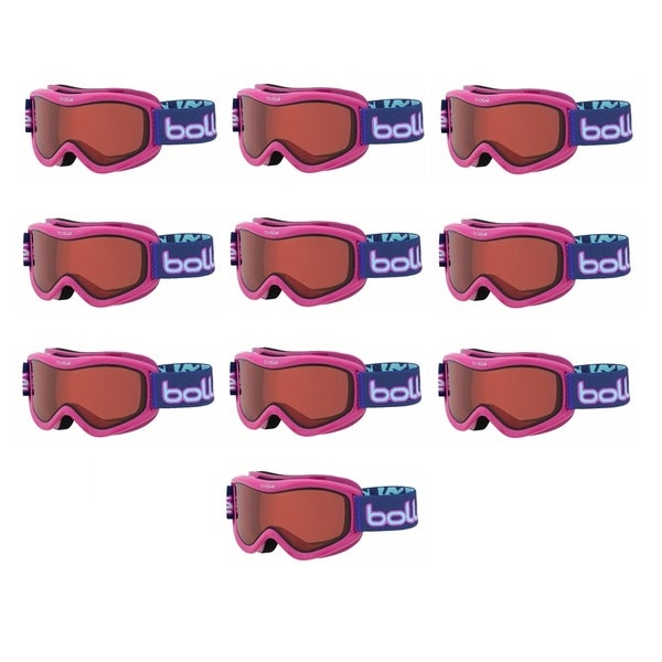d1641b89576615 Bolle Volt Snow Ski Goggles for Kids Ages 6+ (Pink Confetti Vermillion