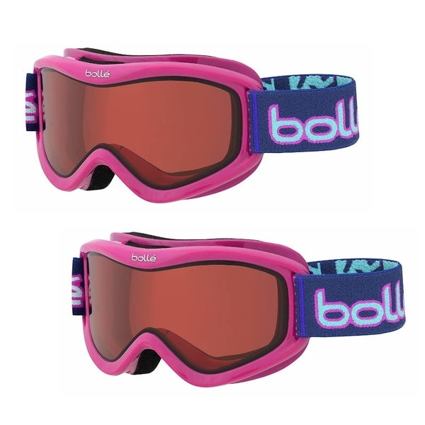 518930fb012b71 Shop Bolle Volt Snow Ski Goggles for Kids Ages 6+ (Pink Confetti Vermillion,  2-Pack) - Free Shipping On Orders Over  45 - Overstock.com - 26386655