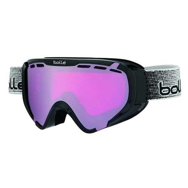 Bolle Explorer Junior Snow Goggles (Shiny Black Frame/Vermilion Lens)