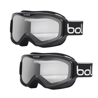 Bolle Mojo Ski Goggles with Shiny Black Frame and Clear Lens (2-Pack)