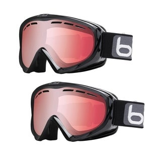 Bolle Y6 OTG Snow/Ski Goggles with Black Frame and Vermilion Gun Lens (2-Pack)