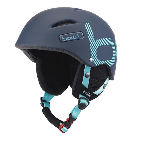 Bolle B-Style Ski Helmet (Soft Navy/Mint Stripes/ 58-61cm) - Blue