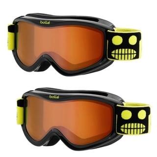 Bolle AMP Youth/Junior Snow Goggles, 2-Pack (Black Robot Frame, Vermillon Lens)