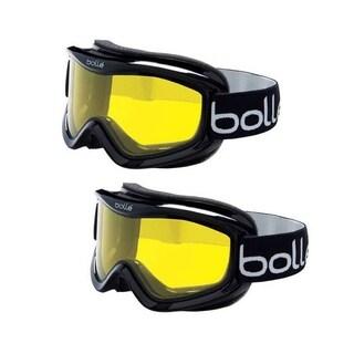 Bolle Mojo Ventilated Ski Goggles (Shiny Black Frame/Lemon Lens, 2-Pack)