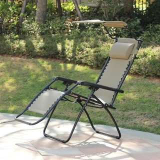 Havenside Home Glovertown Zero Gravity Chair with Canopy