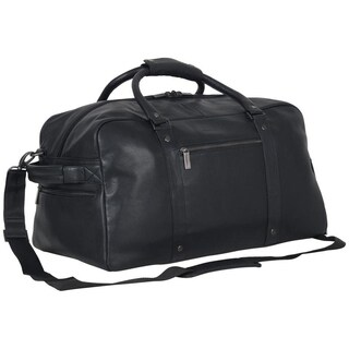 "Kenneth Cole Reaction 20"" Pebbled Leather Multi-Pocket Anti-Theft RFID Weekender Travel Duffel (Brown Or Black)"