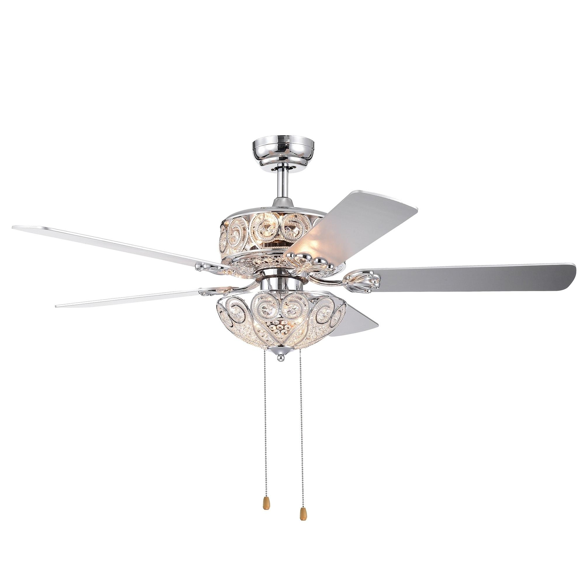 5 Blade 52 Inch Crystal Ceiling Fan