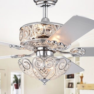 Catalina Chrome-Finish 5-blade 52-inch Crystal Ceiling Fan