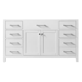"""Exclusive Heritage 60"""" Single Sink Bathroom Vanity Base in White from the Colette Collection"""