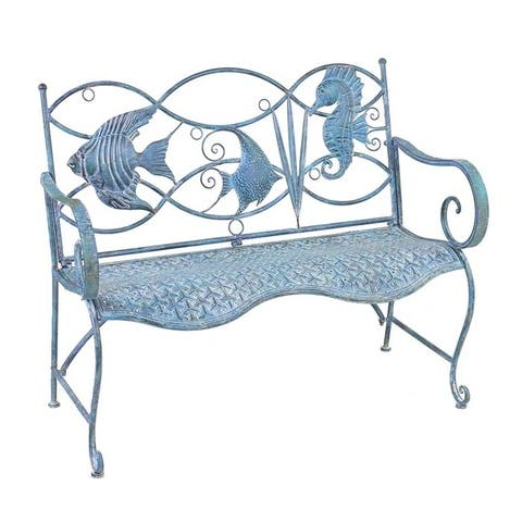 Fish and Seahorse Back Garden Bench by Havenside Home