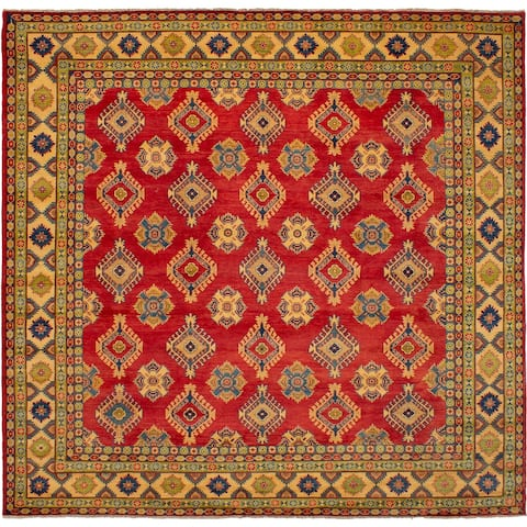 eCarpetGallery Hand-knotted Finest Gazni Red Wool Rug - 10'1 x 9'8