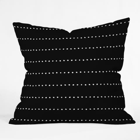 Deny Designs Dot Stripes Indoor/Outdoor Reversible Throw Pillow (4 Sizes)