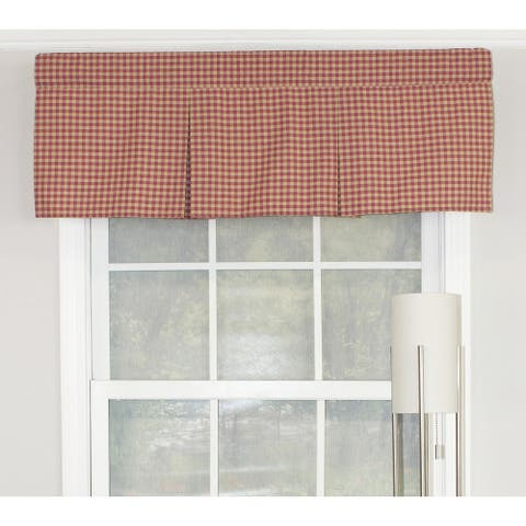 "RLF Home Le Fleur Stripe Pleated 42"" Window Valance - Coral"