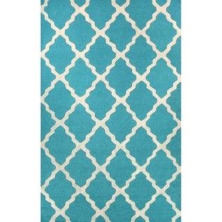 Trellis Pattern Wool Area Rug