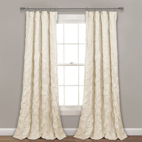 Lush Decor Ravello Pintuck Window Curtain Single Panel