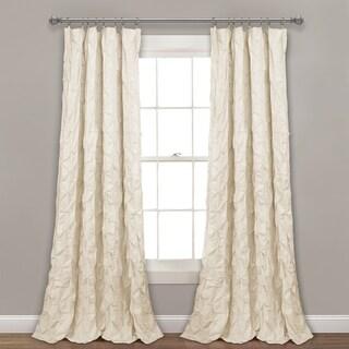 Lush Decor Ravello Pintuck Window Curtain Single Panel