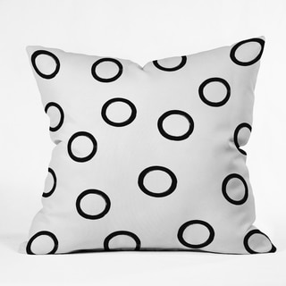 Deny Designs Black and White Circles Reversible Throw Pillow (4 Sizes)