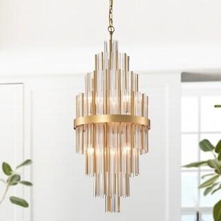 Fredrik Gold and Crystal 6-light Chandelier