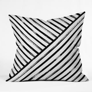 Deny Designs Geometric Stripes Indoor/Outdoor Reversible Throw Pillow (4 Sizes)