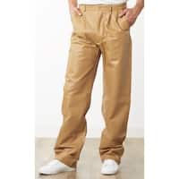 Men's Tan Leather Dress Pants
