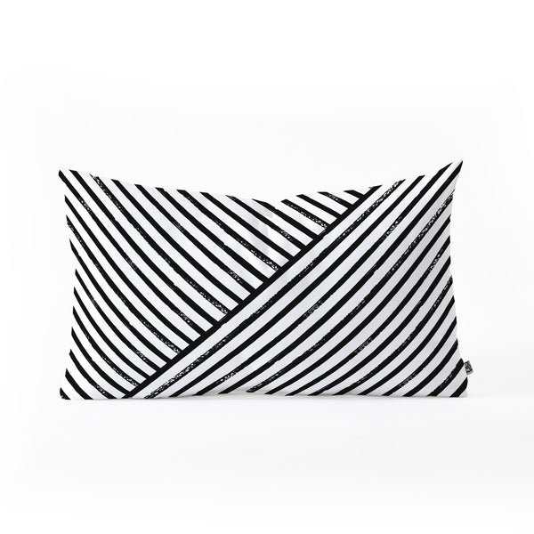 Deny Designs Geometric Stripes Reversible Oblong Throw Pillow (2 Sizes)