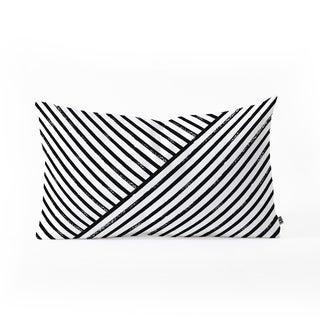Deny Designs Geometric Stripes Reversible Oblong Throw Pillow (2 Sizes)