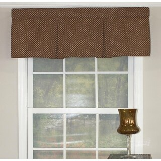 """RLF Home Trellis Pleated 42"""" Window Valance - Woodland"""