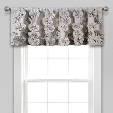"Silver Orchid Turpin Window Curtain Valance - 18"" x 52"""