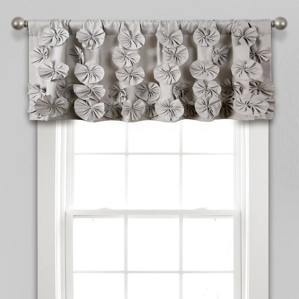 """Silver Orchid Turpin Window Curtain Valance - 18"""" x 52"""" - 18"""" x 52"""". Opens flyout."""