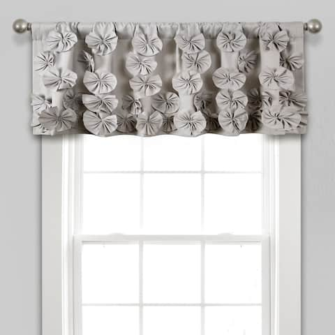 """Silver Orchid Turpin Window Curtain Valance - 18"""" x 52"""""""