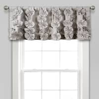 "Lush Decor Riley Window Curtain Valance - 18"" x 52"""