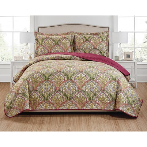 Troy 3-Piece Reversible Quilt Set