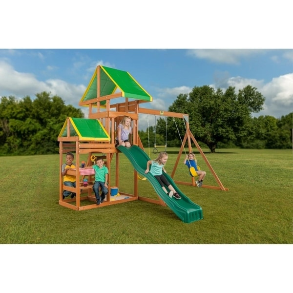 Shop Woodlands Complete Wooden Playset Brown Free