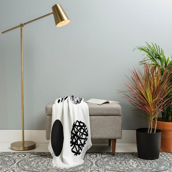 Deny Designs Mixed Dots Woven Throw Blanket