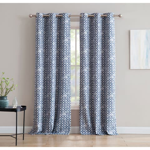 Print 84-inch Blackout Curtain with Grommets - Single Panel, Sunset Fabric Co by 1888 Mills