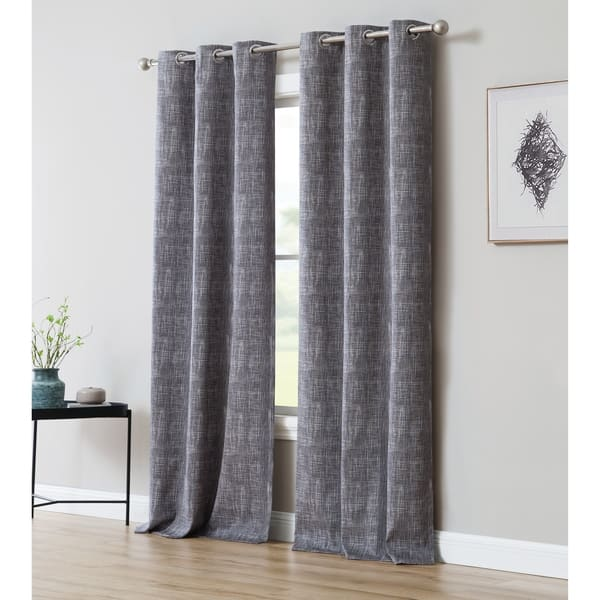 Print 84 Inch Blackout Curtain With Grommets Single