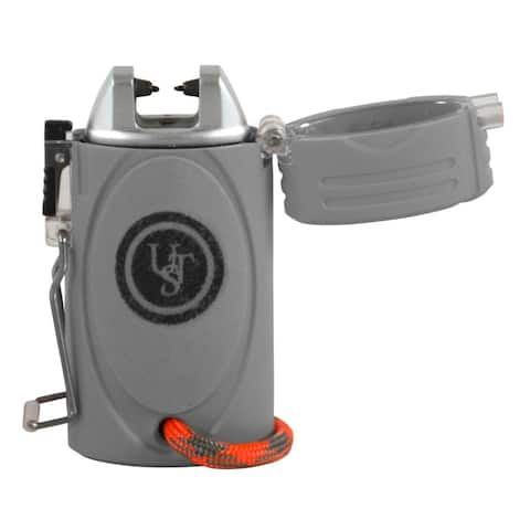 UST TekFire Fuel-Free Lighter and LED Light - Silver