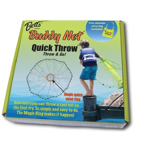 "Betts Buddy Quick Throw Net 4' 3/8"" mesh Chartreuse"